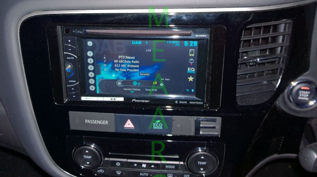 Mitsubishi zj outlander stereo upgrade the electronics